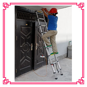 Single Aluminum Telescopic Step Ladder/Single Straight Ladder pictures & photos