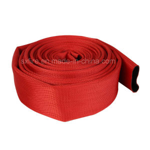 13 Bar 50mm PVC Mix Rubber Lining Red Jacket Fire Hose pictures & photos