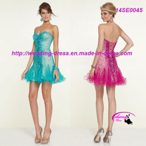 New Arrival Sexy Strapless Cocktail Evening Dress pictures & photos