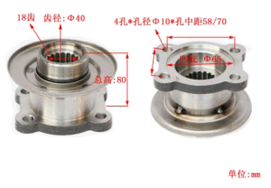 High Quality JAC Truck Parts Bevel Pinion Gear Flange pictures & photos