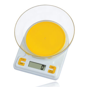 5kg Electronic Kitchen Scale with Plastic Bowl (HK112A) pictures & photos