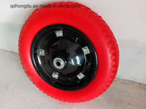 13′′x3′′ PU Foam Wheel with Metal Rim pictures & photos