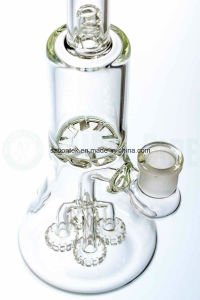 Quad Showerhead to Tornado Perc Beaker Glass Pipe for Smoking pictures & photos