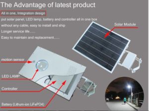 12W 15W Green Country Solar Street Light System pictures & photos
