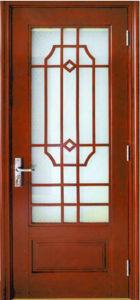 Glass Door, French Door, Morden Design Solid Wooden Door with Glass pictures & photos