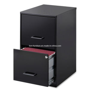 Black Office Furniture/ Steel Storage Cabinets/2 Drawer Steel File Cabinet pictures & photos