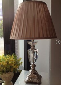 Phine 90212 Clear Crystal Table Lamp with Fabric Shade pictures & photos