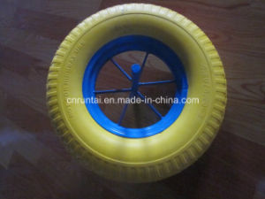 Hot Sell New Material Durable PU Form Wheels (4.00-8) pictures & photos