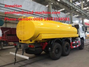 HOWO Water Tank Truck 6X4 16000L of Sinotruk 371HP 12.00r20 Model Radial Tire With1 Spare and Water Pump and Pipe and Spray System