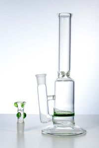 Single Green Honeycomb Glass Smoking Water Pipe pictures & photos