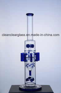 Factory Wholesale New Design Glass Water Pipe Smoking Pipe with Gears Perc pictures & photos