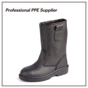 Genuine Leather PU Injection Steel Toe Safety Boot pictures & photos