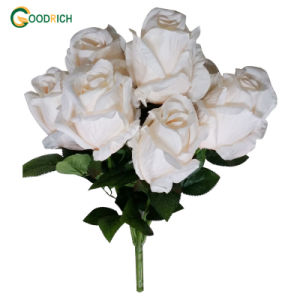 Cheaper Rose Bush Aritificial Flower pictures & photos