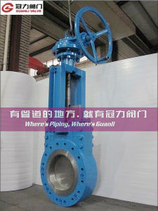 ANSI 16.5 Bevel Gear Operated Knife Gate Valve pictures & photos