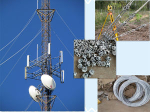 Three Legs Steel Lattice Pipe Microwave Telecommunication Tower pictures & photos