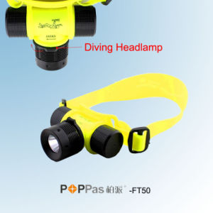 Waterproof Ipx8 150lm 3W CREE XP-E R2 Diving LED Headlamp (POPPAS- FT50) pictures & photos