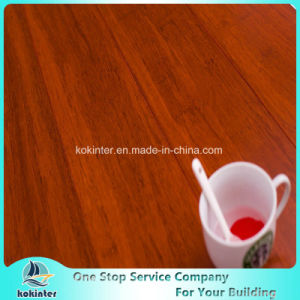 Chinese Super Quality Teak Color Indoor Usage Strand Woven Bamboo Flooring with Cheap Price pictures & photos