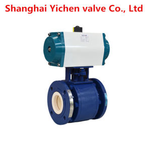 Wcb Lining Ceramic Pneumatic Flanged Ball Valve pictures & photos