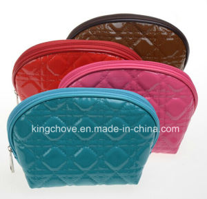 Latest Stitching Decoration Patent PU Cosmetic Bag (KCC182) pictures & photos