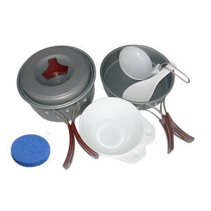 Hard-Anodized Outdoor Aluminum Cookware Set pictures & photos