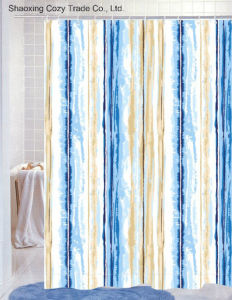 Waterproof Polyester Fabric Shower Curtain pictures & photos