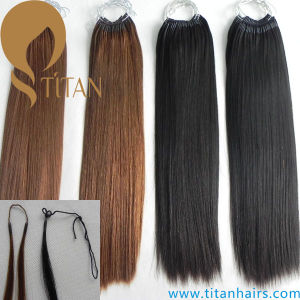Korea Hair Extension Cotton String Pre Bonded Hair Extension pictures & photos