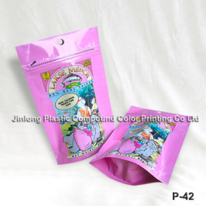 Custom Printed Stand up Zipper Pouch, Fural Candy Bag, Cotton Candy Packaging Bag pictures & photos