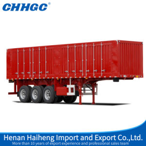 China Heavy Duty 3 Axle Van Type Semi Truck Trailers for Sale pictures & photos