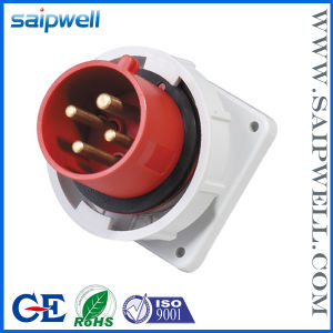 2014 New High Quality Waterproof IP67 400V 32A 6h 4 Pin Industrial Socket and Plug
