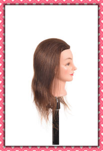 100% Human Hair Mannequin Head 16inches for Beauty School Training pictures & photos