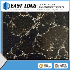 Artificial Natural Black Quartz Stone pictures & photos