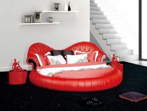 Newest Model Furniture Bedroom Leather Bed 692#