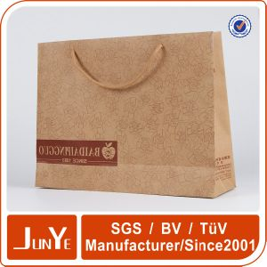 Elegant High End Clothing Packaging Kraft Paper Tote Bags