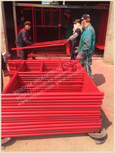 Portable Steel Tubular Frame Scaffolding/ Scaffolding Frame for Construction pictures & photos