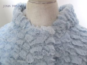Children Wind-Proof Fake Fur Coat with Pressed Button pictures & photos