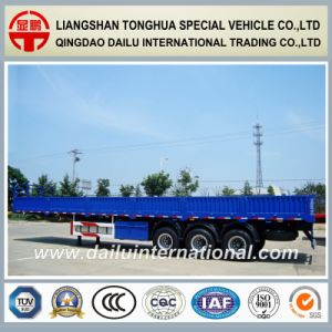 Sidewall Detachable Long Vehicle Tri-Axle Cargo Semi Trailer pictures & photos