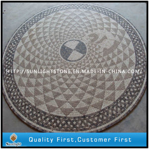 Mosaic Floor Tile, Round /Square Pattern Marble Stone Mosaic Wall Tiles pictures & photos