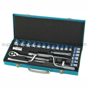 """High Quality 24PC 1/2"""" Dr. Cr-V Socket Wrench Set pictures & photos"""