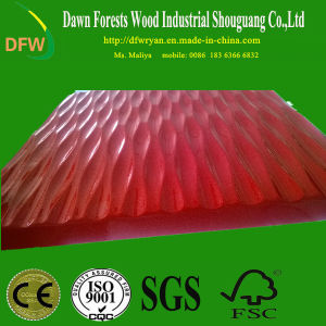 Red PVC Film Color Wave MDF Kitchen Cabinet Door pictures & photos