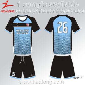 Hot Sales Soccer Uniform Design Blue Custaom Jersey Shirt Soccer Unifrom pictures & photos