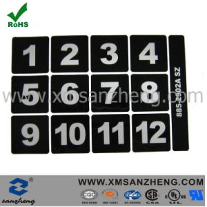 Silk Screen Printing White Digital Number Stickers pictures & photos