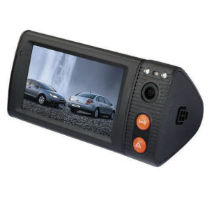 3.0 Inch LCD Dual Lens Car Video Recorder with Night Vision and G-Sensor GPS pictures & photos