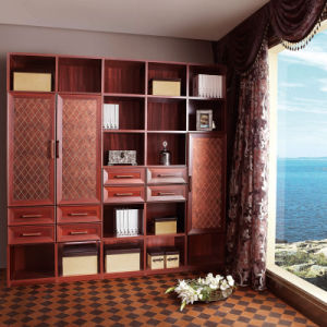 Oppein California Red Melamine Panel Book Cabinet (SG11156) pictures & photos
