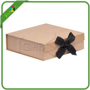 Custom Made Recycled Brown Kraft Rigid Paper Box pictures & photos