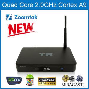 Zoomtak T8 Quad Core Android 4.4 Smart TV Box pictures & photos