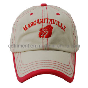 Washed Contrast Stitches Binding Embroidery Sport Golf Baseball Cap (TMB0332) pictures & photos