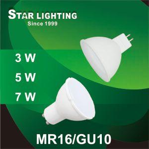 3W 5W 7W Aluminum Plastic GU10/SMD MR16 LED Spotlight