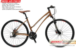 700 C Wheel Alloy Hybrid Bicycle 24 Speed (AP-70018) pictures & photos