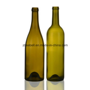 Burgundy Bordeaux Glass Wine Bottles 750ml pictures & photos