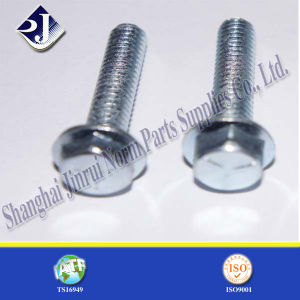 Alloy Steel Zinc Plated Flange Bolt for Automobile (DIN6921) pictures & photos